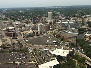 Downtown South Bend from South East
