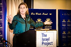 Justice Minister Livni briefs the Israel Project