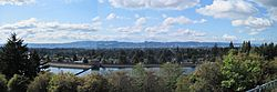 Downtown Portland, Oregon, from on Mt. Tabor Park.