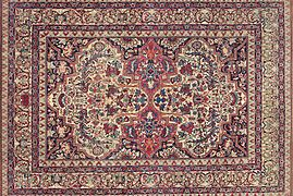 Persian Laver Kirman, 11ft 9in x 16ft 4in, early 19th century