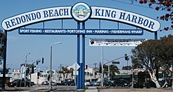 Redondo Beach - King Harbor sign