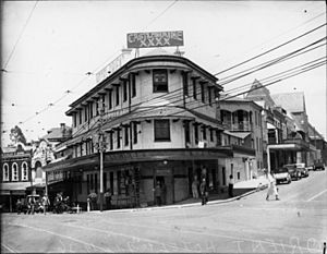 StateLibQld 1 106260 Orient Hotel on the corner of Queen and Ann Streets, Brisbane, 1936