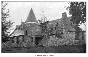 1899 Petersham public library Massachusetts