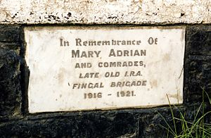 Adrian 'Old IRA' plaque, Oldtown, Co. Dublin