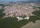 Aerial photograph of Cayenne, French Guiana (1)