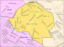 Census Bureau map of Gibbsboro, New Jersey
