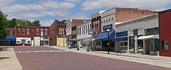 Downtown Humboldt: east side of town square
