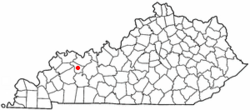 Location of Calhoun, Kentucky