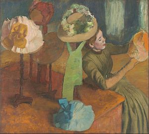 Edgar Degas - The Millinery Shop - Google Art Project