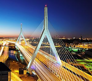 Leonard P. Zakim Bunker Hill Bridge - Boston, MA crop