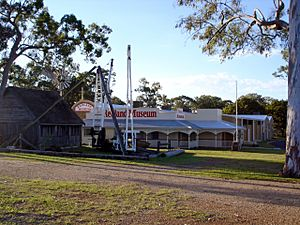 The Redland Museum's exterior, viewed from the Cleveland Showgrounds.