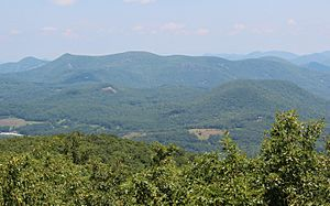 Scaly Mountain NC seen from Rabun Bald