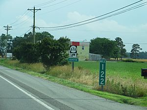 Turn-off to Hopeton, Virginia, U.S. 13 Southbound, Eastern Shore, Virginia (14423262864)