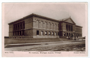 Art Institute, Chicago circa 1907 postcard (front)f