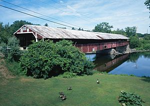 Bath-Haverhill Bridge, Spanning Ammonoosuc River, bypassed section of Amm, Woodsville (Grafton County, New Hampshire)