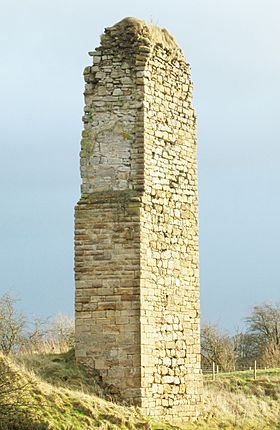 Coreshill Castle or Ravenscraig, Stewarton, Ayrshire, Scotland. From the north. Detail of stonework