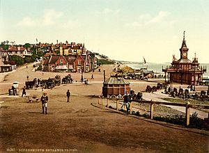 Entrance to the pier, Bournemouth, England, 1890s
