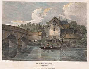 Henley Bridge, engraved by Hay from a drawing by J.P.Neale, from Beauties of England and Wales, London, 1812