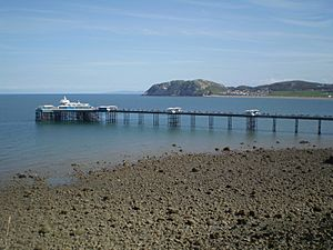 Llandudno pier from great orme
