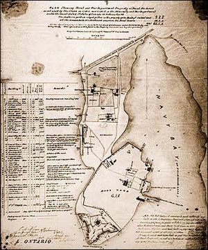 Point Frederick Peninsula map c. 1870, current site of Royal Military College of Canada