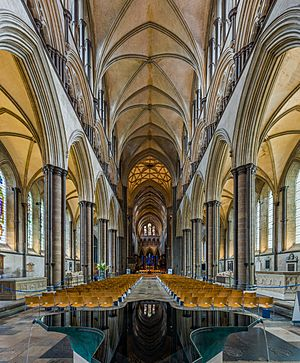 Salisbury Cathedral Nave, Wiltshire, UK - Diliff