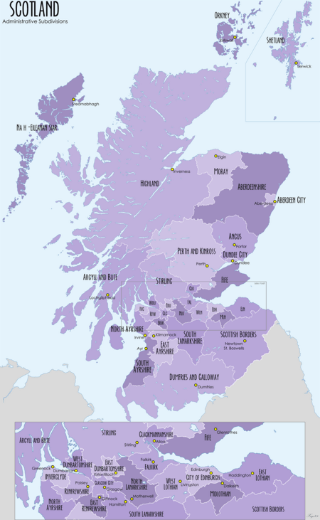 Scotland Administrative Map 2009