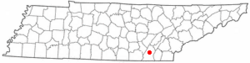 Location of Middle Valley, Tennessee