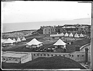 Tents at Fort Scratchley, Newcastle, NSW, 4 April 1903