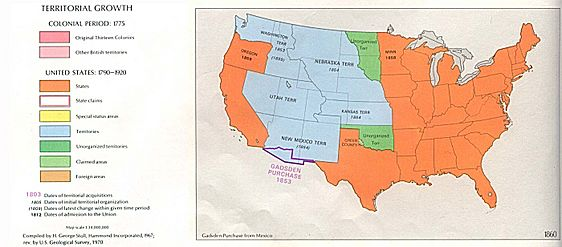 USA Territorial Growth 1860