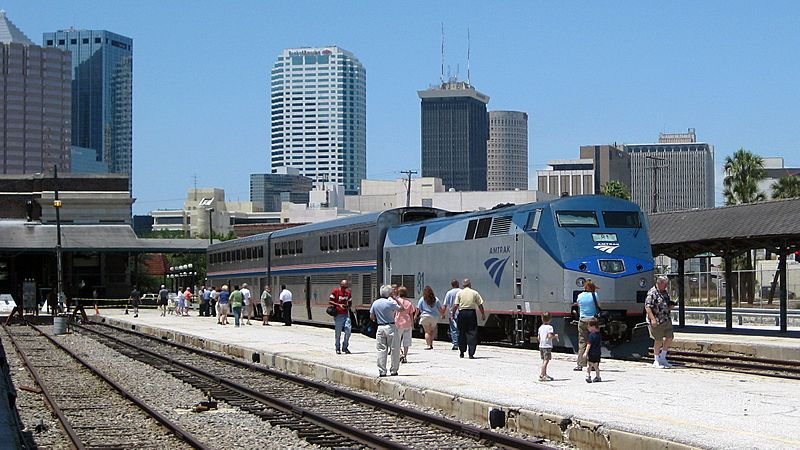 Amtrak at Tampa Union Station Platform