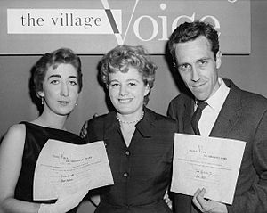 Julie Bavasso Shelly Winters Jason Robards 1956 Obie Awards