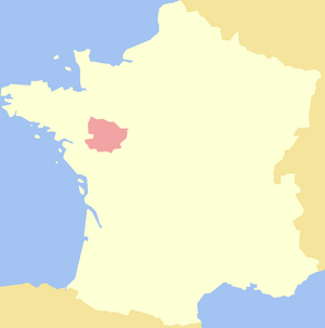 Map of Anjou