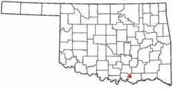 Location of Mead, Oklahoma