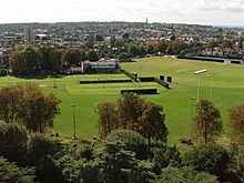 Old Deer Park sports grounds, view south from Kew Gardens pagoda - geograph.org.uk - 226902