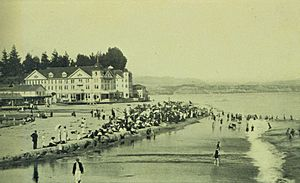 Beach scene at Capitola, California