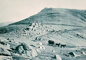Carriage Road - Pikes Peak series of photographs - Charles S. Lee - 1893