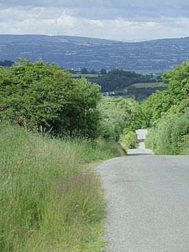 Hilly Irish country road