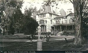Residence of Governor Stanford, Palo Alto, California, 1888 (LAROCHE 12)