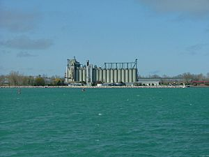 Sarnia Grain Elevator from Across the Bay