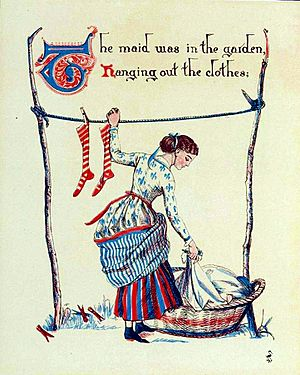 Sing a sing of sixpence - illustration by Walter Crane - Project Gutenberg eText 18344