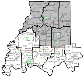 Southwest Indiana Townships