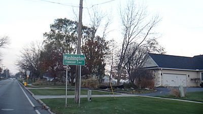 Washington Township Limit sign