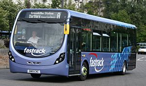 Arriva Southern Counties 4306 on Fastrack A, Bluewater (20894624865) (cropped)