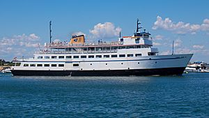 Block Island Ferry Carol Jean departing Block Island 7-23-2015