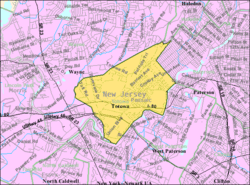 Census Bureau map of Totowa, New Jersey