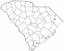 Location of Aynor inSouth Carolina