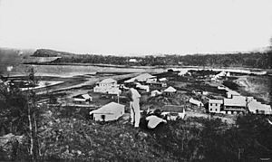 StateLibQld 1 137127 Panoramic view of Townsville and surrounds, ca. 1870
