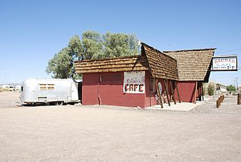 "The ""Bagdad Café"", located in Newberry Springs, California."