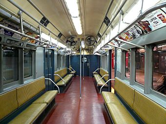 R12 irt subway car interior