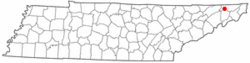 Location of Colonial Heights, Tennessee